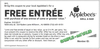applebee s birthday club sign up for free entrée