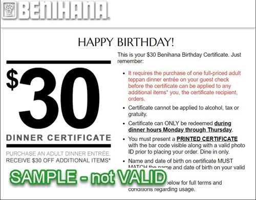 15 OFF Benihana Promo Codes Coupons September 2020