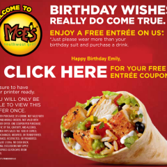 Top 10 Free Birthday Meals